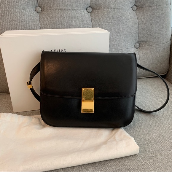 be8685b61 Celine Bags | Black Classic Medium Box Bag | Poshmark